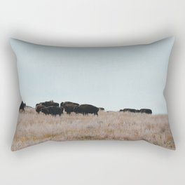 Prairie Bison Rectangular Pillow