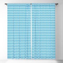Oktoberfest Bavarian Blue and White Small Diagonal Diamond Pattern Blackout Curtain