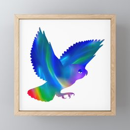 Owl in flight Framed Mini Art Print