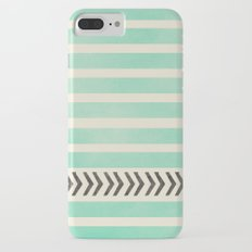 MINT STRIPES AND ARROWS Slim Case iPhone 7 Plus