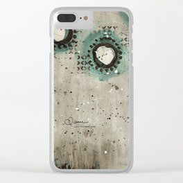 Sepia Circles Clear iPhone Case