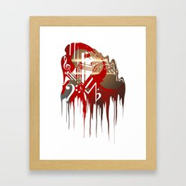 """Dark Paradise LDR Drip"" Framed Art Print"