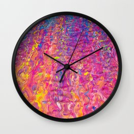 Rainbow Ripple Wall Clock