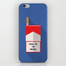 Thank You For Smoking Minimalist iPhone & iPod Skin