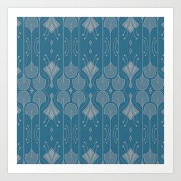 Art Deco Botanical Shapes Art Print