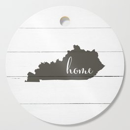 Kentucky is Home - Charcoal on White Wood Cutting Board