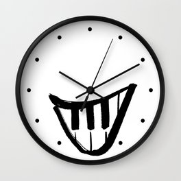Forte piano smile Wall Clock