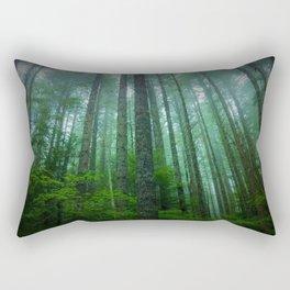 Misty Mountain Forest Rectangular Pillow