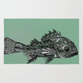 A Surly Rockfish - Atlantic Thornyhead-Longspine Rug