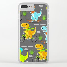 Dino teens Clear iPhone Case