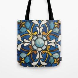 John La Farge - Blue panel Tote Bag