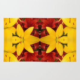 """""""A Gathering of Lilies"""" Remix - 4 (1-1) [D4469~57] Rug"""