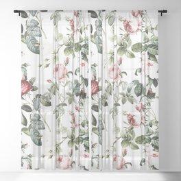 Rose Garden Sheer Curtain