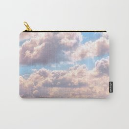 Illuminated fluffy clouds in a blue sky Carry-All Pouch