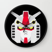 gundam Wall Clocks featuring GUNDAM by danilo agutoli