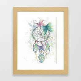 Dream catcher in blue Framed Art Print