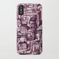 cartoons iPhone & iPod Cases featuring Saturday Morning Cartoons 2: TV Print by Kayleigh Morin