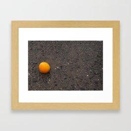 Beached Orange Framed Art Print