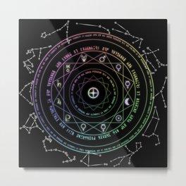 Astrological Magic Circle Metal Print