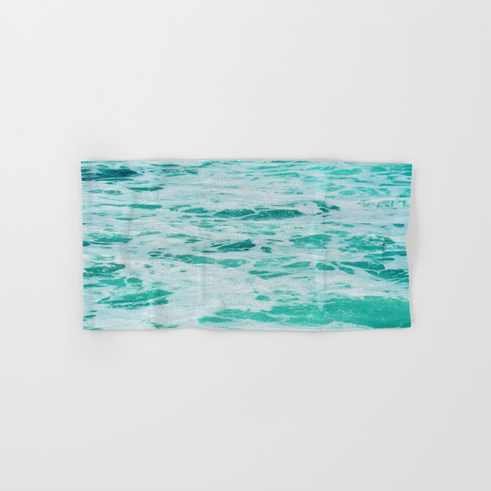 teal waves Hand & Bath Towel