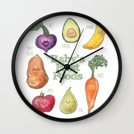 Baby's First Foods Wall Clock