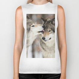 Wolf Kisses Biker Tank