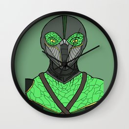 The Walking Serpent Wall Clock