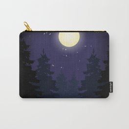 Forest On Moonlit Night #society6 #decor #buyart #artprint Carry-All Pouch