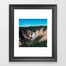 Yellowstone x Lower Falls Framed Art Print