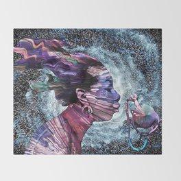 Priestess Of Soul Throw Blanket