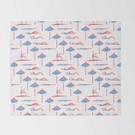 sunbathing pattern Throw Blanket