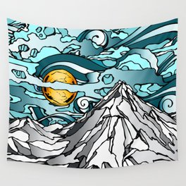 Turquoise Sky Wall Tapestry