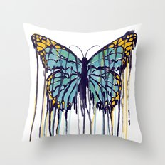 Melting Monarch (collab with Matheus Lopes) Throw Pillow
