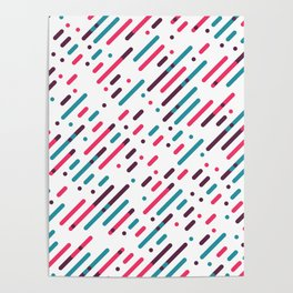 Parallel Colorful Pattern Poster