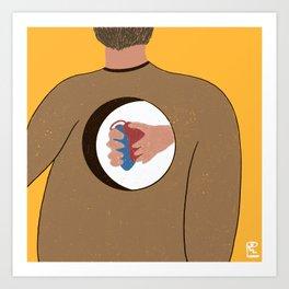 Heart Back Art Print