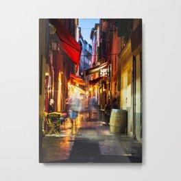 A walk through Nizza after the rain Metal Print