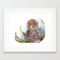 chewbacca Framed Art Prints featuring Chewbacca by Alejandra Dirzo