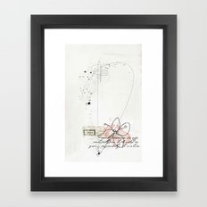 spring time floral Framed Art Print