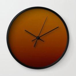 Autumn Ombre Wall Clock