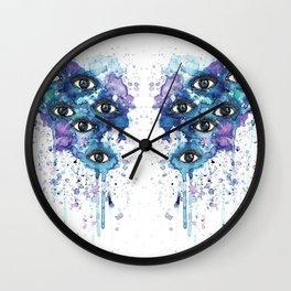 Space Eyes Wall Clock