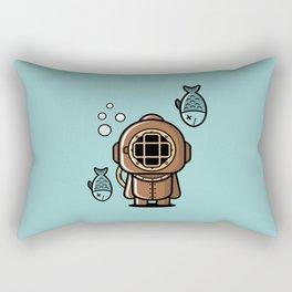 Vintage Diver Rectangular Pillow