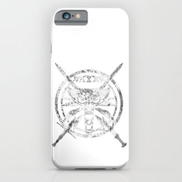 Wolf, Signs, Steel and Silver iPhone Case