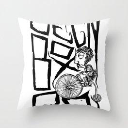 gbr gentleman rider Throw Pillow