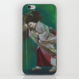 The Geisha on the Washing Line iPhone Skin