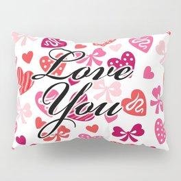 """""""Love You"""" Heart Pattern Pillow Sham"""