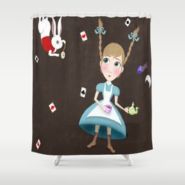 Falling into a Land of Wonder Shower Curtain