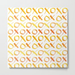 xoxo Watercolor Yellow Orange Metal Print