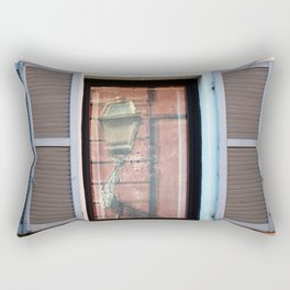 Street lamp reflection Rectangular Pillow