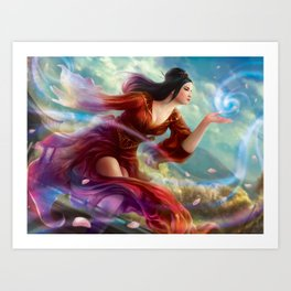 Stepping Behind the Tapestry Art Print