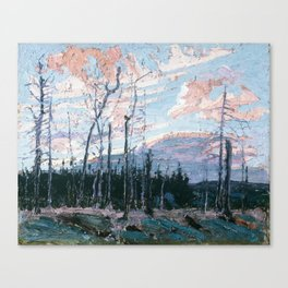 Tom Thomson - Burnt Land at Sunset  - Canada, Canadian Oil Painting - Group of Seven Canvas Print